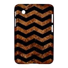 Chevron3 Black Marble & Brown Stone Samsung Galaxy Tab 2 (7 ) P3100 Hardshell Case  by trendistuff