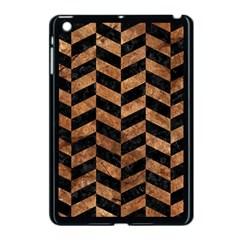 Chevron1 Black Marble & Brown Stone Apple Ipad Mini Case (black) by trendistuff