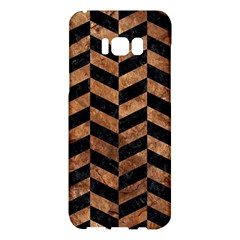 Chevron1 Black Marble & Brown Stone Samsung Galaxy S8 Plus Hardshell Case