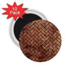 Brick2 Black Marble & Brown Stone (r) 2 25  Magnet (10 Pack) by trendistuff