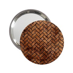 Brick2 Black Marble & Brown Stone (r) 2 25  Handbag Mirror by trendistuff