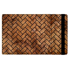 Brick2 Black Marble & Brown Stone (r) Apple Ipad 2 Flip Case by trendistuff
