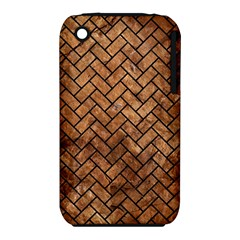 Brick2 Black Marble & Brown Stone (r) Apple Iphone 3g/3gs Hardshell Case (pc+silicone) by trendistuff