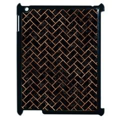 Brick2 Black Marble & Brown Stone Apple Ipad 2 Case (black) by trendistuff