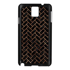 Brick2 Black Marble & Brown Stone Samsung Galaxy Note 3 N9005 Case (black) by trendistuff
