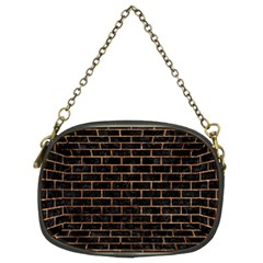 Brick1 Black Marble & Brown Stone Chain Purse (two Sides) by trendistuff