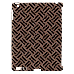 Woven2 Black Marble & Brown Colored Pencil (r) Apple Ipad 3/4 Hardshell Case (compatible With Smart Cover) by trendistuff