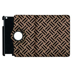 Woven2 Black Marble & Brown Colored Pencil (r) Apple Ipad 3/4 Flip 360 Case by trendistuff