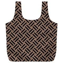Woven2 Black Marble & Brown Colored Pencil (r) Full Print Recycle Bag (xl) by trendistuff
