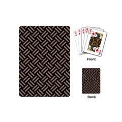 Woven2 Black Marble & Brown Colored Pencil Playing Cards (mini) by trendistuff