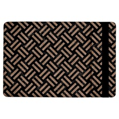 Woven2 Black Marble & Brown Colored Pencil Apple Ipad Air Flip Case by trendistuff
