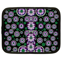 Fantasy Flower Forest  In Peacock Jungle Wood Netbook Case (large) by pepitasart