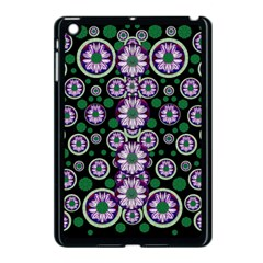 Fantasy Flower Forest  In Peacock Jungle Wood Apple Ipad Mini Case (black) by pepitasart