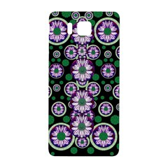 Fantasy Flower Forest  In Peacock Jungle Wood Samsung Galaxy Alpha Hardshell Back Case by pepitasart