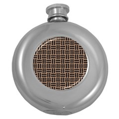 Woven1 Black Marble & Brown Colored Pencil (r) Hip Flask (5 Oz) by trendistuff