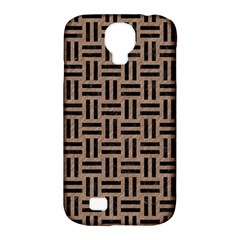 Woven1 Black Marble & Brown Colored Pencil (r) Samsung Galaxy S4 Classic Hardshell Case (pc+silicone) by trendistuff