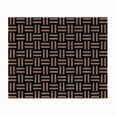 Woven1 Black Marble & Brown Colored Pencil Small Glasses Cloth by trendistuff