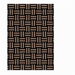 Woven1 Black Marble & Brown Colored Pencil Large Garden Flag (two Sides) by trendistuff
