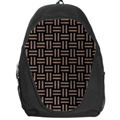 Woven1 Black Marble & Brown Colored Pencil Backpack Bag by trendistuff