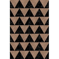 Triangle2 Black Marble & Brown Colored Pencil 5 5  X 8 5  Notebook by trendistuff
