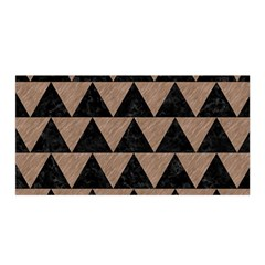 Triangle2 Black Marble & Brown Colored Pencil Satin Wrap by trendistuff
