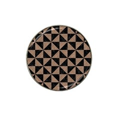 Triangle1 Black Marble & Brown Colored Pencil Hat Clip Ball Marker by trendistuff
