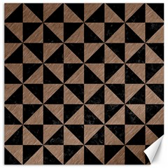 Triangle1 Black Marble & Brown Colored Pencil Canvas 20  X 20  by trendistuff