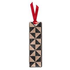 Triangle1 Black Marble & Brown Colored Pencil Small Book Mark by trendistuff