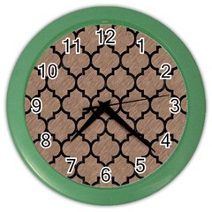 Tile1 Black Marble & Brown Colored Pencil (r) Color Wall Clock by trendistuff