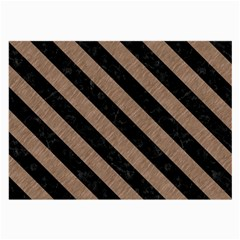 Stripes3 Black Marble & Brown Colored Pencil (r) Large Glasses Cloth by trendistuff