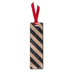 Stripes3 Black Marble & Brown Colored Pencil (r) Small Book Mark by trendistuff