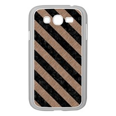 Stripes3 Black Marble & Brown Colored Pencil (r) Samsung Galaxy Grand Duos I9082 Case (white) by trendistuff