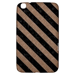 Stripes3 Black Marble & Brown Colored Pencil (r) Samsung Galaxy Tab 3 (8 ) T3100 Hardshell Case  by trendistuff