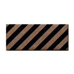 Stripes3 Black Marble & Brown Colored Pencil Hand Towel by trendistuff