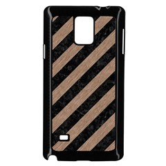 Stripes3 Black Marble & Brown Colored Pencil Samsung Galaxy Note 4 Case (black) by trendistuff