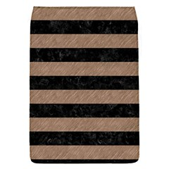 Stripes2 Black Marble & Brown Colored Pencil Removable Flap Cover (s) by trendistuff