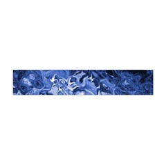 Blue Waves Abstract Art Flano Scarf (mini) by LokisStuffnMore