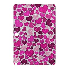 Sparkling Hearts Pink Samsung Galaxy Tab Pro 10 1 Hardshell Case by MoreColorsinLife