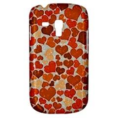 Sparkling Hearts,orange Galaxy S3 Mini by MoreColorsinLife