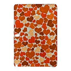 Sparkling Hearts,orange Samsung Galaxy Tab Pro 10 1 Hardshell Case by MoreColorsinLife