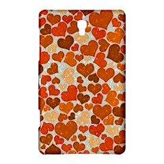 Sparkling Hearts,orange Samsung Galaxy Tab S (8 4 ) Hardshell Case  by MoreColorsinLife