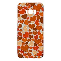 Sparkling Hearts,orange Samsung Galaxy S8 Plus Hardshell Case