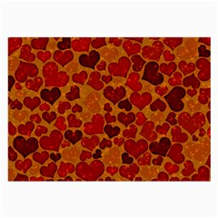 Sparkling Hearts,deep Red Large Glasses Cloth by MoreColorsinLife