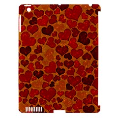 Sparkling Hearts,deep Red Apple Ipad 3/4 Hardshell Case (compatible With Smart Cover) by MoreColorsinLife