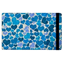 Sparkling Hearts, Teal Apple Ipad 2 Flip Case by MoreColorsinLife
