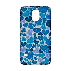 Sparkling Hearts, Teal Samsung Galaxy S5 Hardshell Case  by MoreColorsinLife