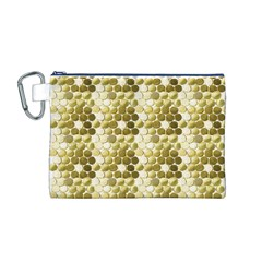 Cleopatras Gold Canvas Cosmetic Bag (m) by psweetsdesign