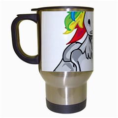 Angry Unicorn Travel Mugs (white) by KAllan