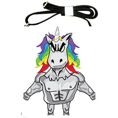 Angry Unicorn Shoulder Sling Bags by KAllan