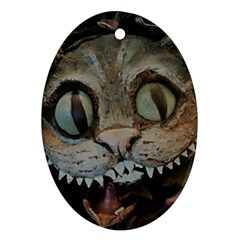 Cheshire Cat Oval Ornament (two Sides) by KAllan
